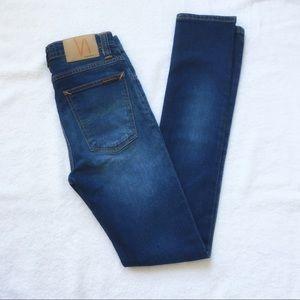 Nudie Jeans high rise skinny sz 27 med-dark wash